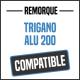 Bâche de remorque compatible TRIGANO ALU 200