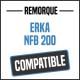Bâche de remorque compatible ERKA NFB 200