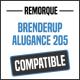 Bâche de remorque compatible BRENDERUP ALUGANCE 205