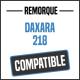 Bâche de remorque compatible DAXARA 218