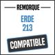 Bâche de remorque compatible ERDE 213