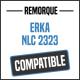 Bâche de remorque compatible ERKA NLC 2323