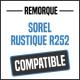 Bâche de remorque compatible SOREL RUSTIQUE R252