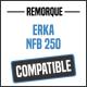 Bâche de remorque compatible ERKA NFB 250