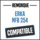 Bâche de remorque compatible ERKA NFB 254