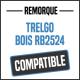 Bâche de remorque compatible TRELGO BOIS RB2524