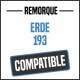 Bâche de remorque compatible ERDE 193