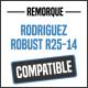 Bâche de remorque compatible RODRIGUEZ ROBUST R25-14