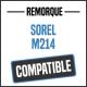 Bâche de remorque compatible SOREL M214