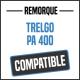 Bâche de remorque compatible TRELGO PA400