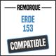 Bâche de remorque compatible ERDE 153