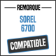 Bâche de remorque compatible SOREL 6700