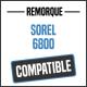 Bâche de remorque compatible SOREL 6800