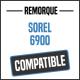 Bâche de remorque compatible SOREL 6900