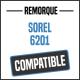 Bâche de remorque compatible SOREL 6201