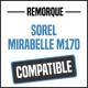 Bâche de remorque compatible SOREL MIRABELLE M170