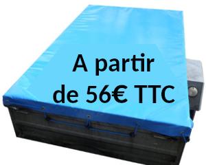 Exemple de bâche pour remorque en PVC bleu de 640g/m²